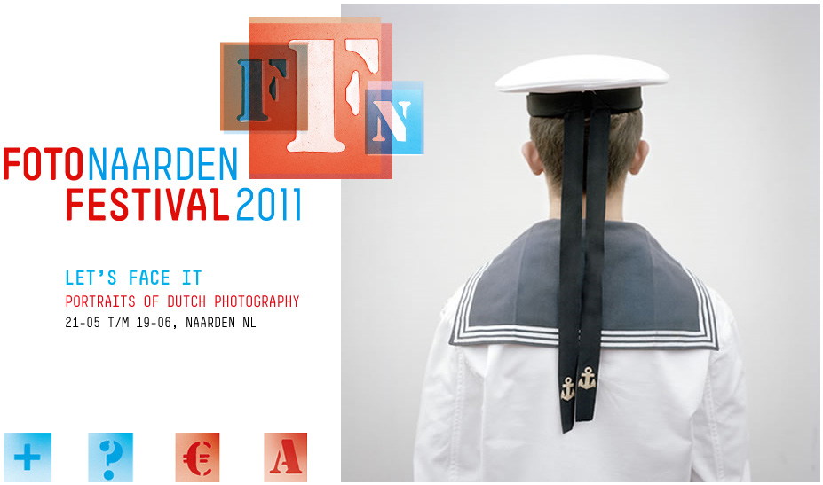 Photo: Design of the home page of the Fotofestival Naarden 2011 with a photo by Joost van den Broek (Sailor).