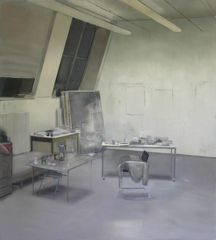 Picture: Painting of the workshop of Johannes Rochhausen, by Johannes Rochhausen.