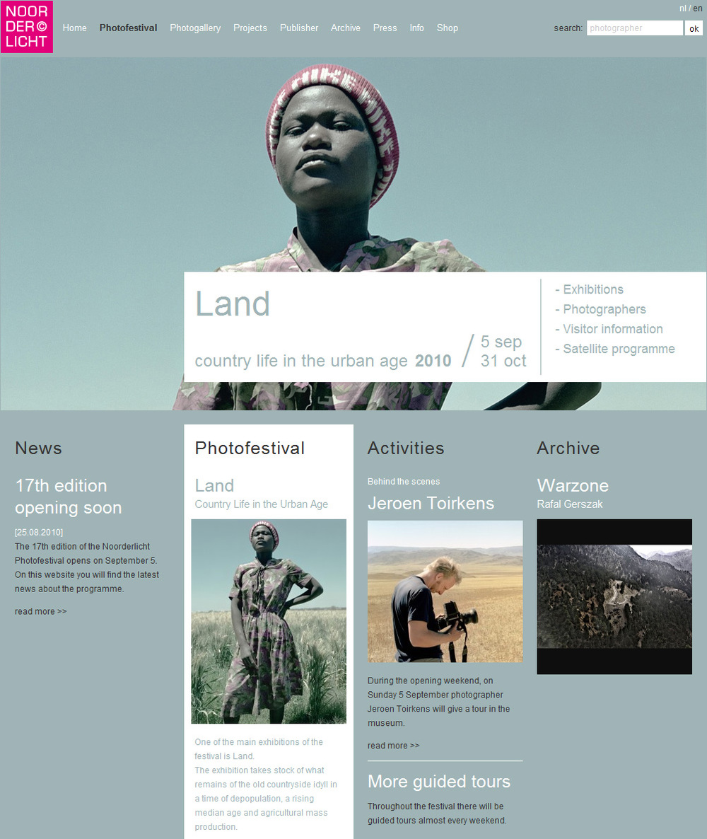 Website of Noorderlicht.