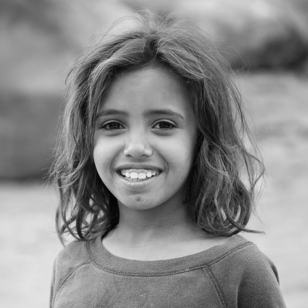 Photo: Portrait of a girl in the ancient city of Petra, by Barend Jan de Jong.