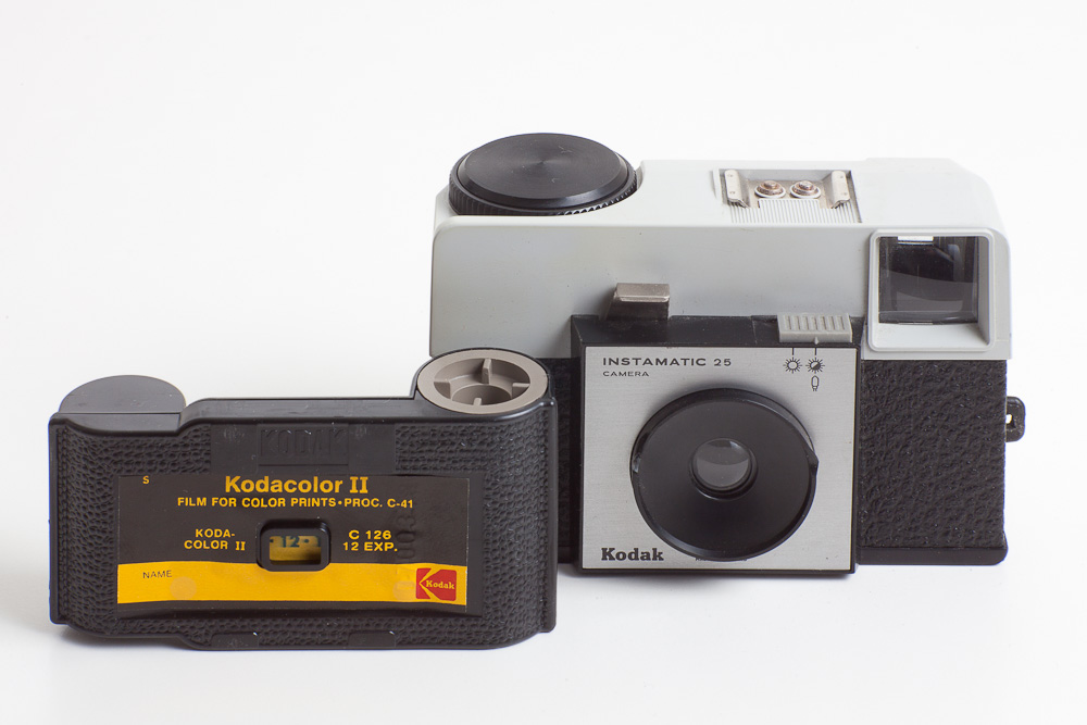 Photo: My private Kodak Instamatic 25 with a Kodakcolor II 126 film cartridge.