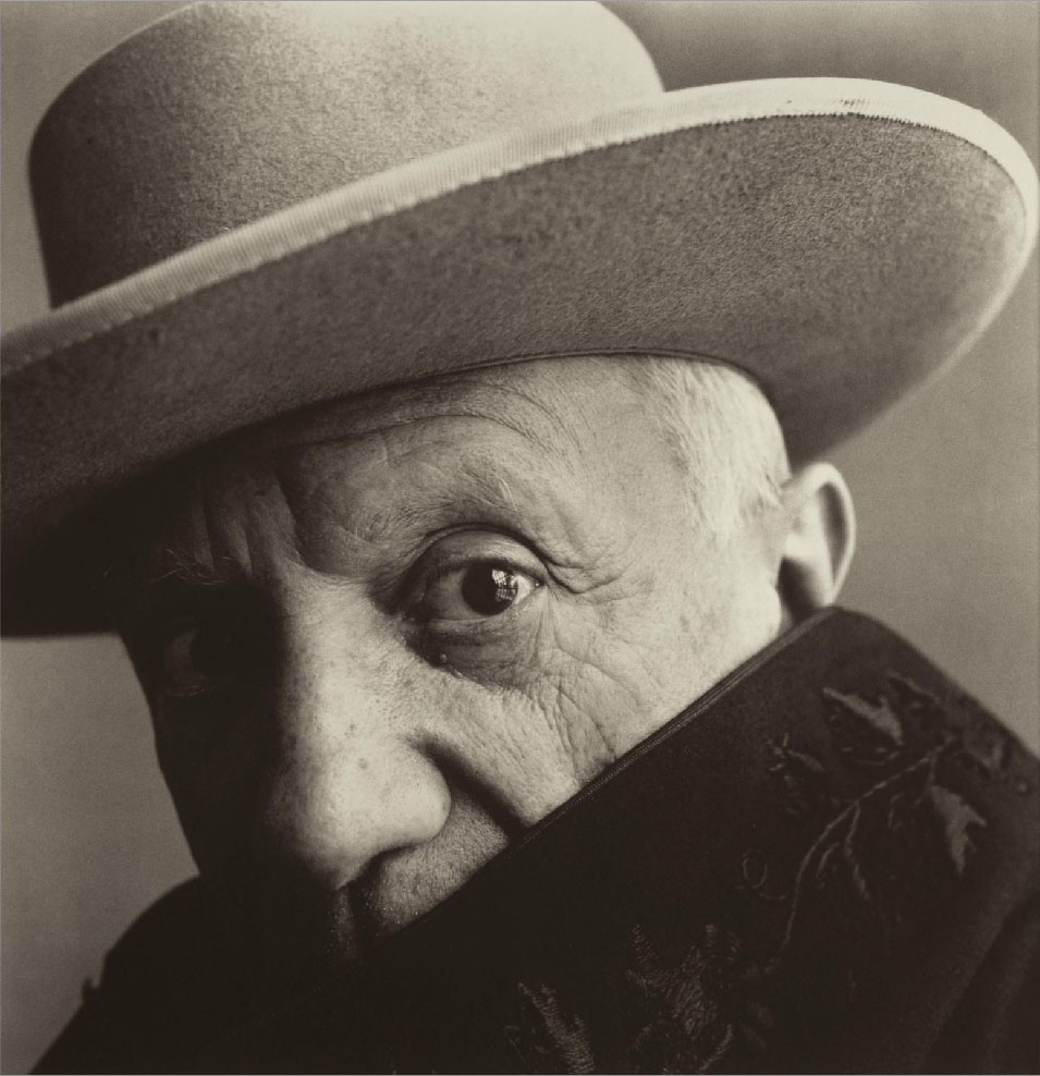 Pablo Picasso at la Californie, 1957, by Irving Penn