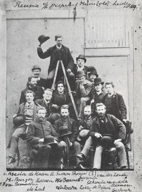 Photo: Group of Students, by J.D. Kiek (1880), owned by Prentenkabinet Leiden, copied fromNederlandse Fotografie, de eerste honderd jaar, Claude Magelhaes, 1969.