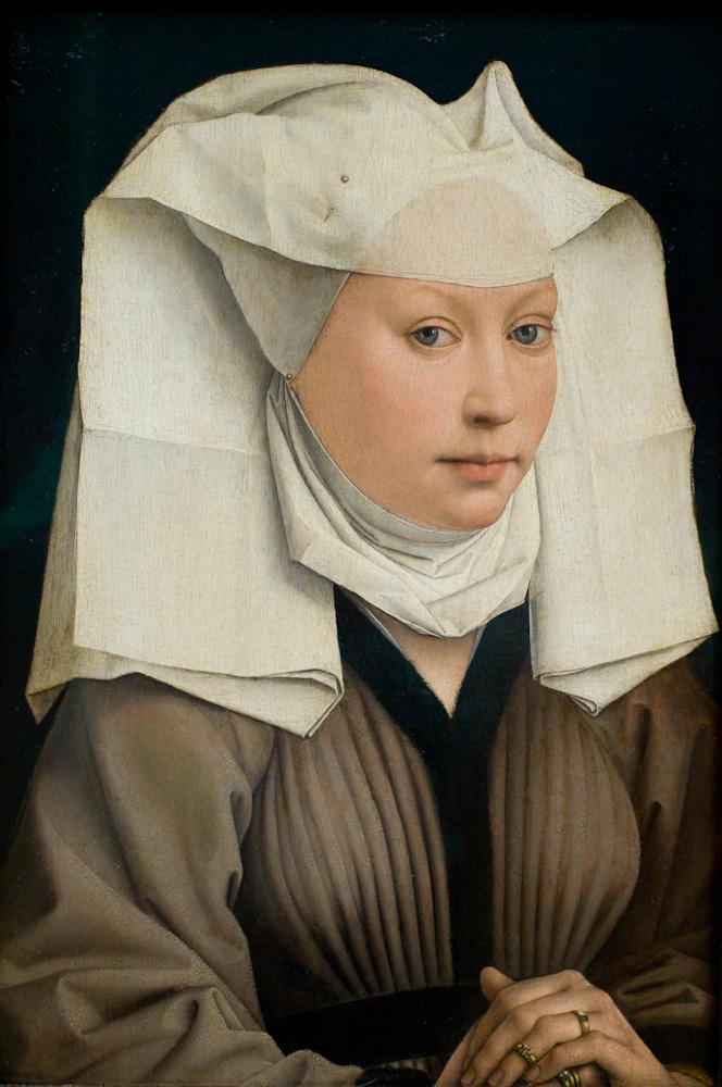 Photo: Lady wearing a gauze hairddress, by Rogier van der Weyden - ca. 1445, photo by Barend Jan de Jong (Leica M9, Summicron 50mm).