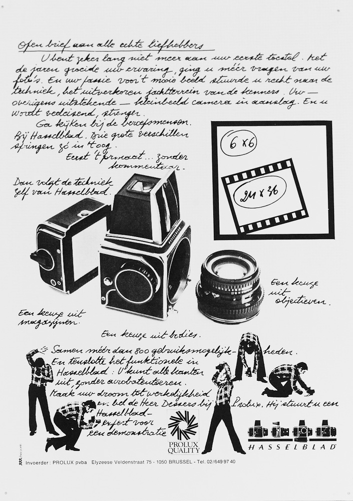 The original Dutch Hasselblad advertisement.