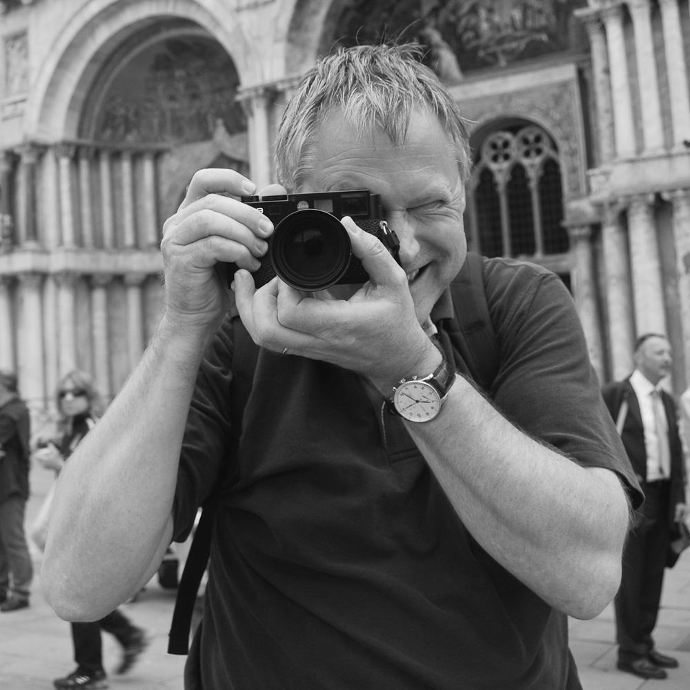 Photo: Barend Jan de Jong on the San Marco square in Venice -- Picture by Domenico Telesca.