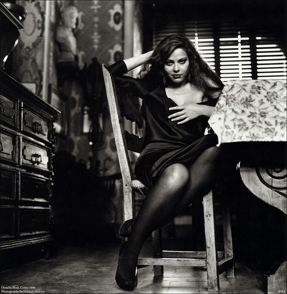 Photo: Ornella Muti, Como, 1986, by Helmut Newton.