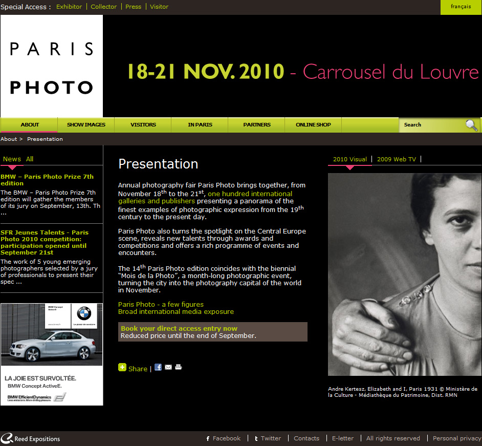 The Paris Photo website.