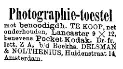 Advertentie, Het Nieuws van den Dag, 1897