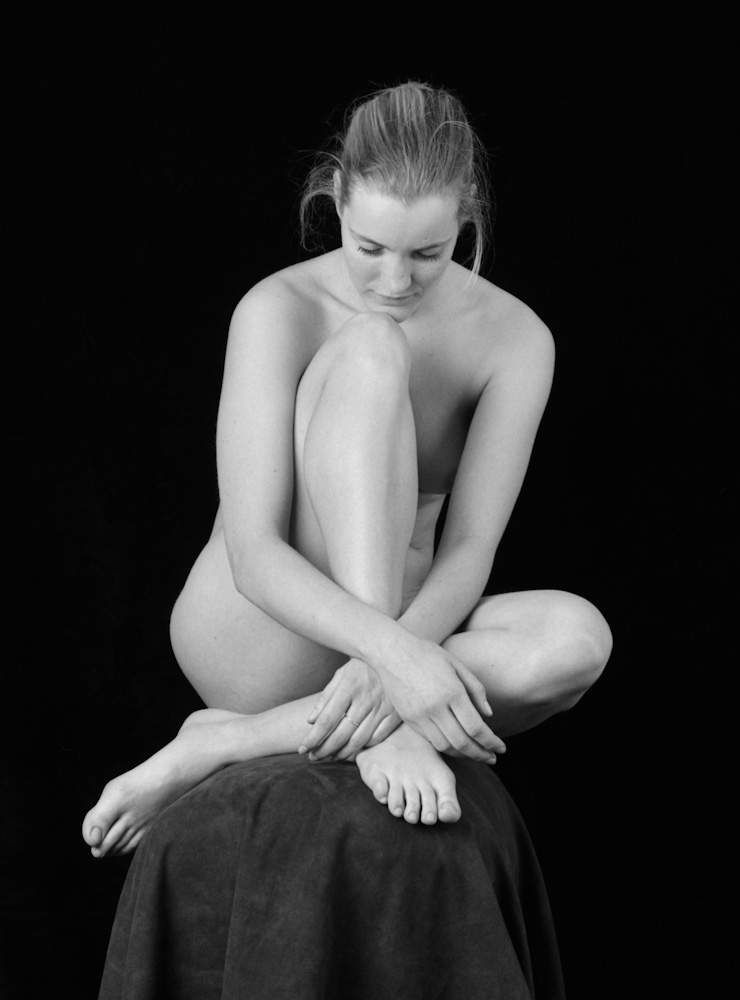 Photo: Nude, by Barend Jan de Jong (Wista SP, Schneider-Kreuznach Super-Angulon 8/90 on 6x9cm).