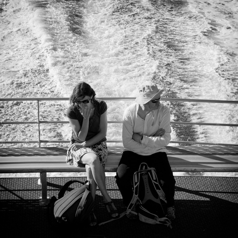 Photo: A couple on the ferry from Magnetic Island to Townsville, by Barend Jan de Jong (Leica M9, Summicron 50mm).