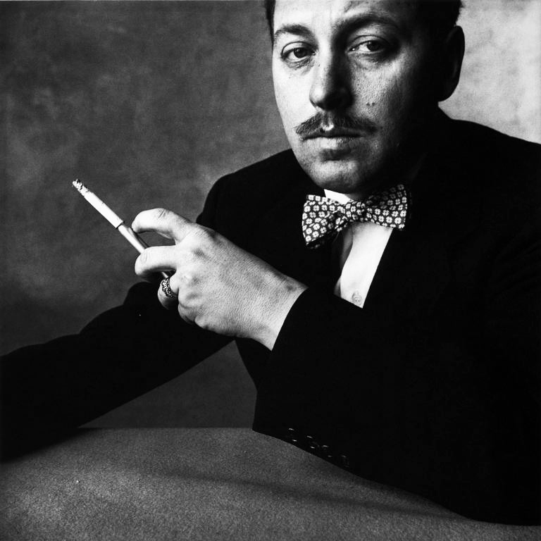 Photo: Tennessee Williams. New York, 1951. (By Irving Penn)