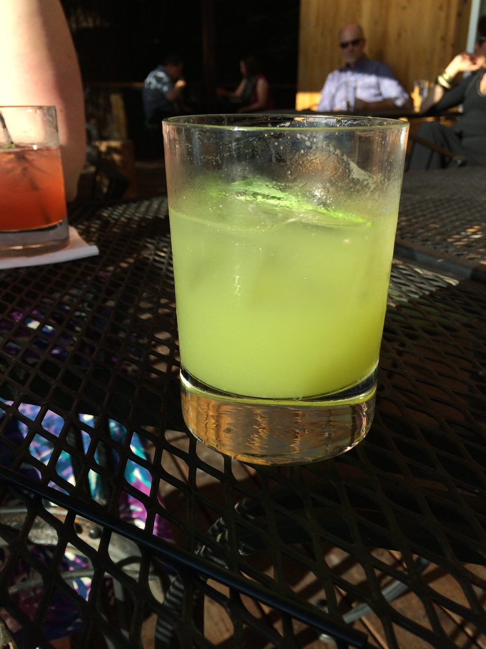 """Gin, Snap pea and cucumber cocktail: """"The Matia"""" (named after a nearby island)"""