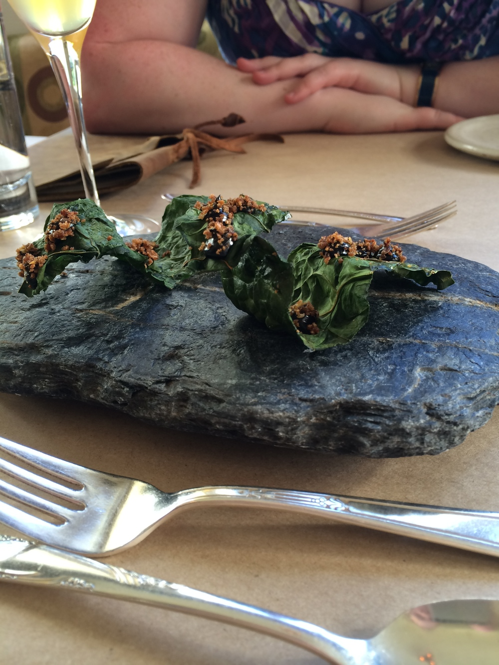 Crispy Kale and Black truffle
