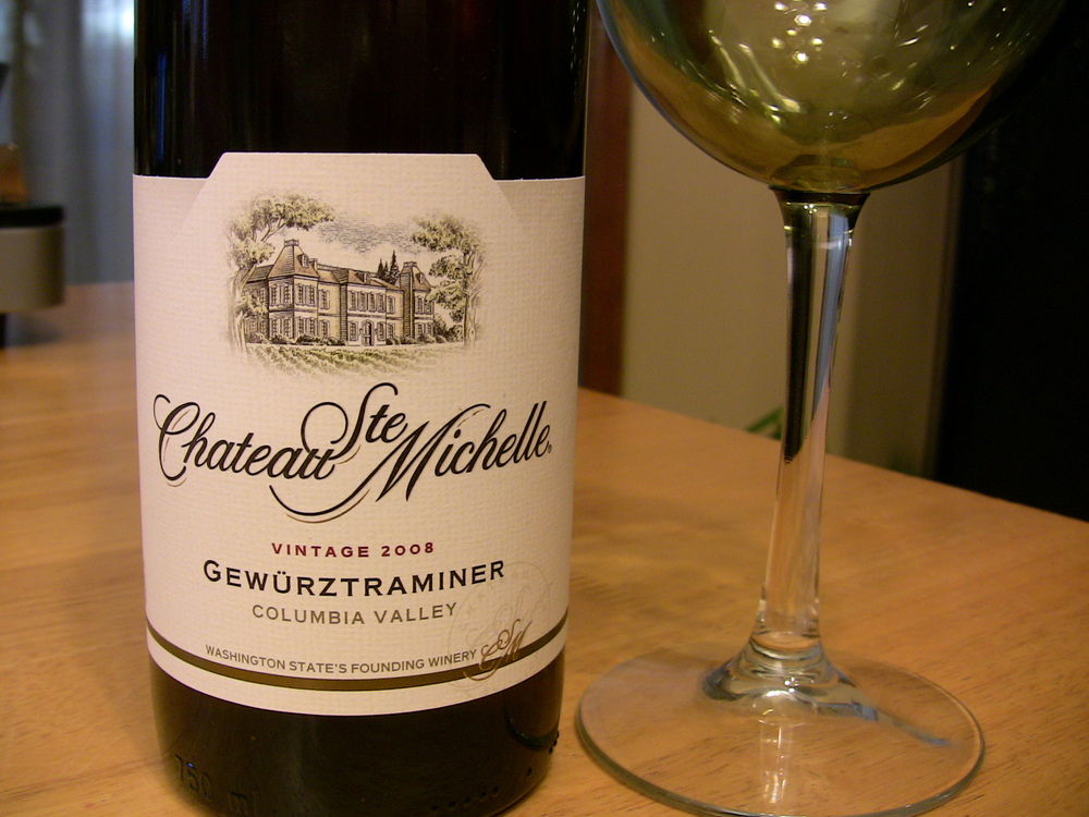 Featured wine Chateau Ste Michelle Gewürztraminer 2008