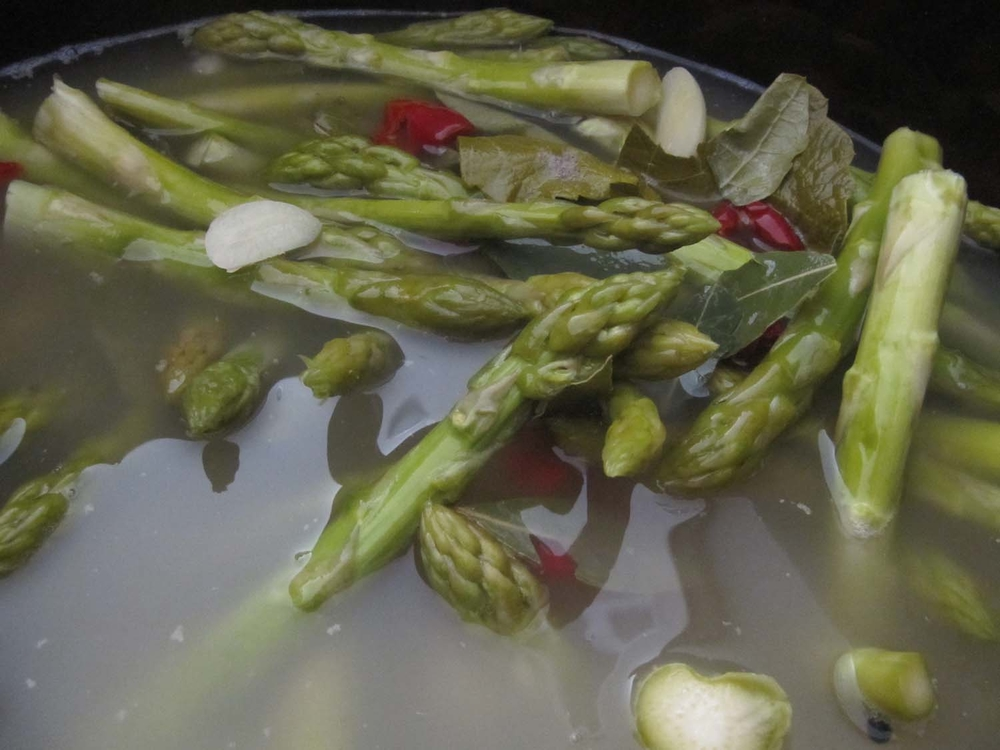 Asparagus Pickles in the Crock