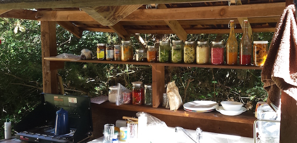 My mobile ferments at a campsite