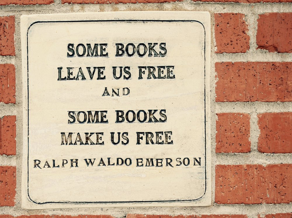 - It is always a good sign when the bookstore you are going to speak at has something like this embedded in their walls for all to see. Here is to freedom wherever you call home.