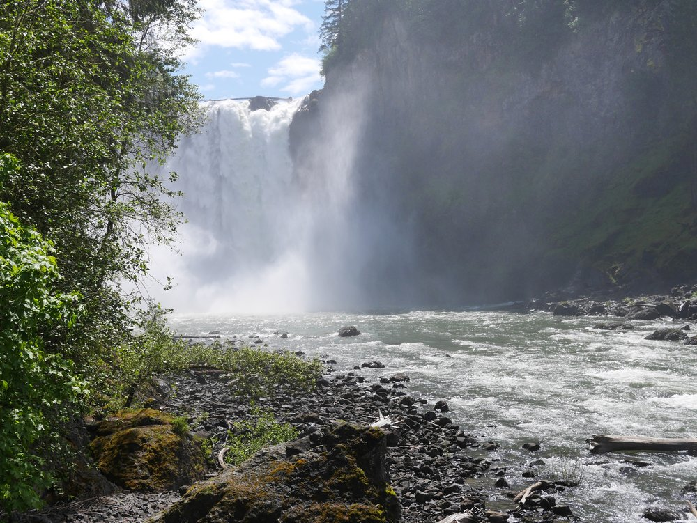 - Snoqualmie Falls was a great stop on our way from Bellingham to Yakima today. So incredible and so beautiful.