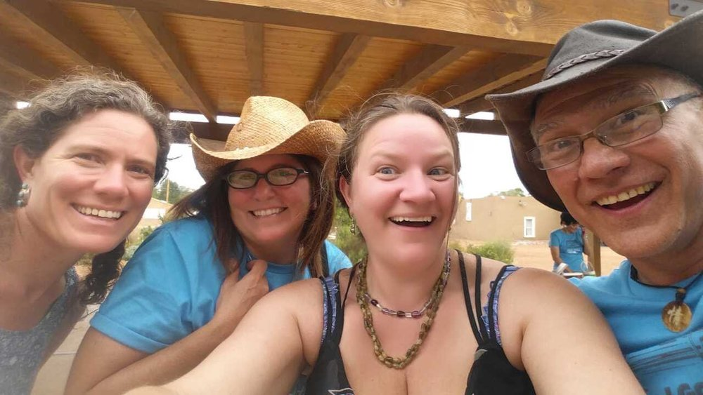 - From left to right:Kirsten | Stephanie | Hannah | WaltWalt & Stephanie Cameron are owners of Edible Santa Fe ,Albuquerque, Taos and sponsors of the festival.