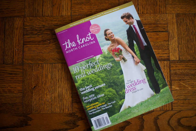 Krissie and Kali's wedding by Behind the Scenes Inc at Bin 33 in Greensboro, NC featured in The Knot North Carolina magazine thanks to Meghan Ely at OFD Consulting