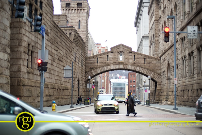 downtown Pittsburgh in January by Glessner Photography