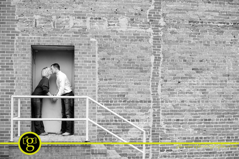 Betsy and Justin's engagement session in downtown Greensboro, NC by Glessner Photography