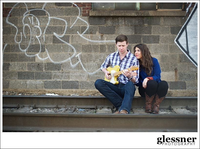 The Westbound Rangers Read and Kristin's downtown Nashville engagement session in Nashville, TN by Glessner Photography
