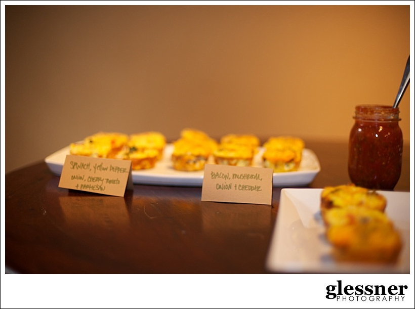 mini quiche at a jungle inspired baby shower at The Loft at Union Square in High Point, NC by Glessner Photography