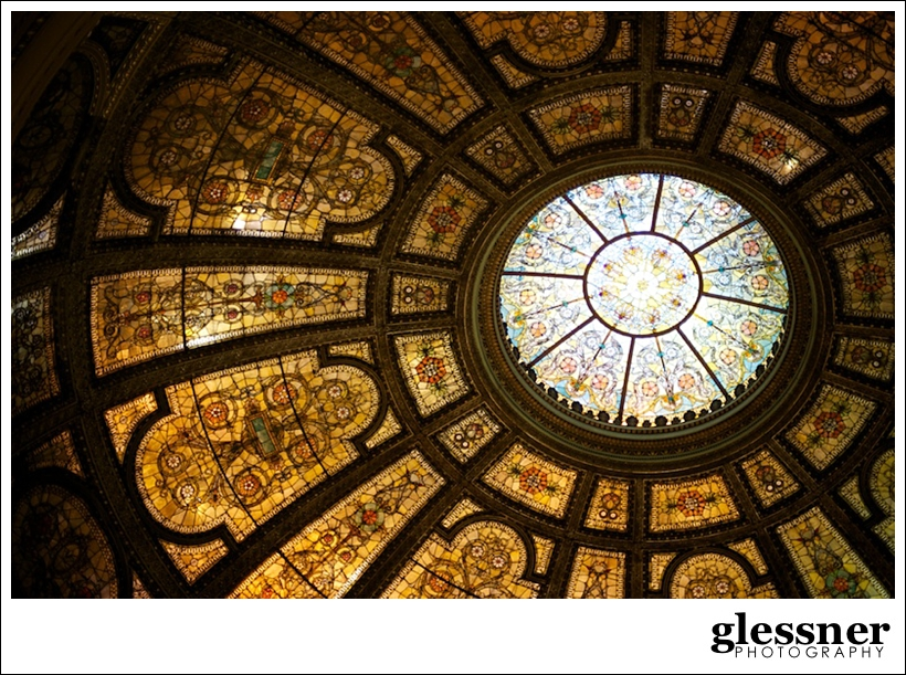 dome inside the Chicago Public Library by Glessner Photography