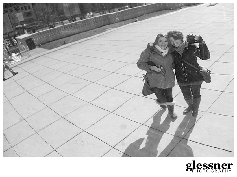 Miranda Meadows and Elizabeth Glessner at the bean in Chicago by Glessner Photography