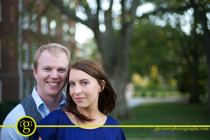 Brittany and Jeff's Belmont University engagement session in Nashville, TN
