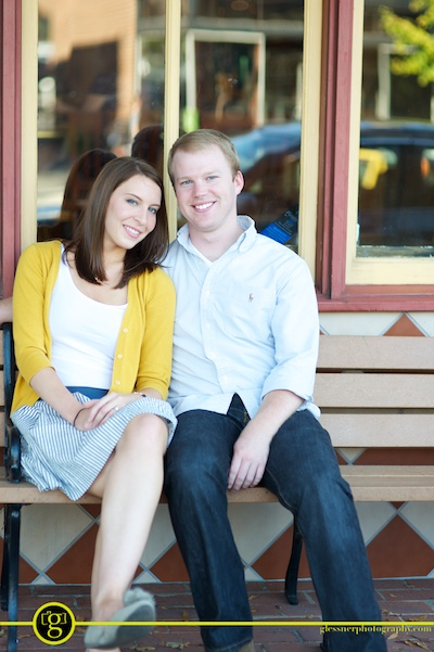 Brittany and Jeff's Hillsboro Village Dragon Park engagement session in Nashville, TN