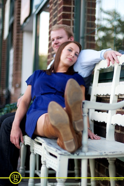 Brittany and Jeff's Edgehill Village engagement session in Nashville, TN
