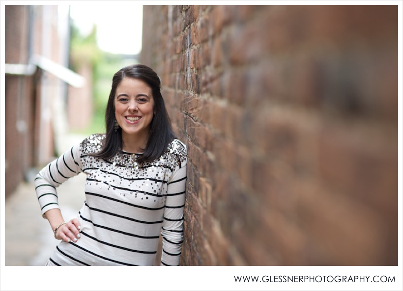 Headshots of Allyson Ward, owner of Tailored Occasions Event Planning and Design, in downtown Greensboro, NC.