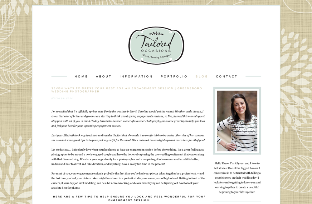 featured :: tailored occasions :: greensboro engagement photographer