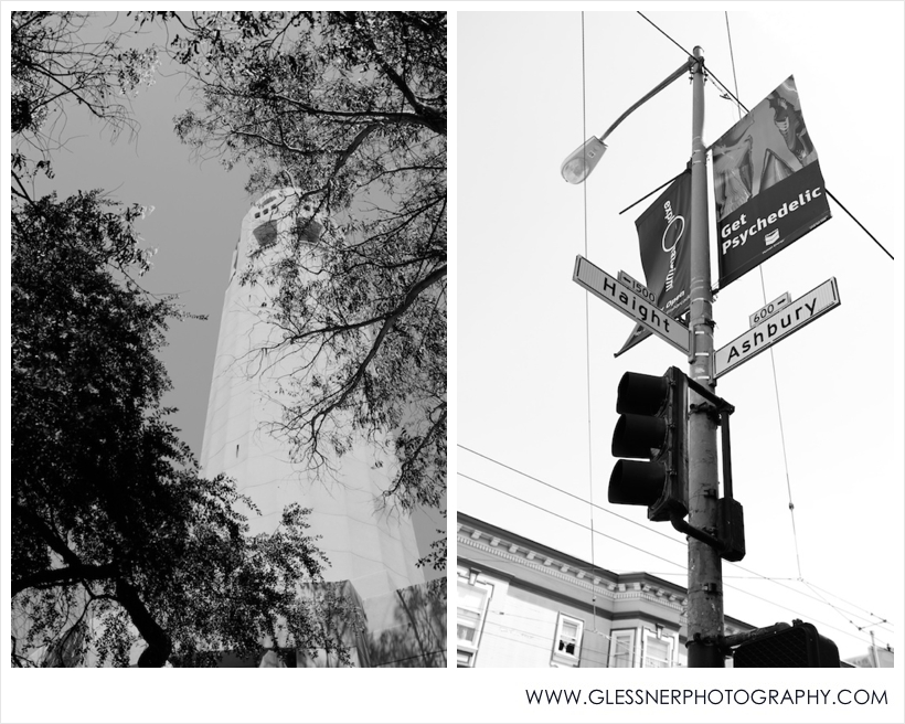 Coit Tower and Haight-Ashbury. Shot with Fuji X100. Processed with VSCO.