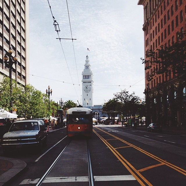 Ferry Building and Cable Car. Via  Instagram .