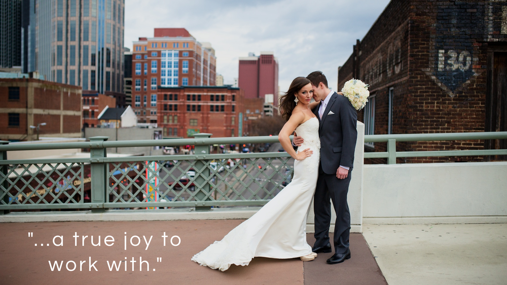 Claire and Spence's Nashville Wedding on Shelby Street Pedestrian Bridge