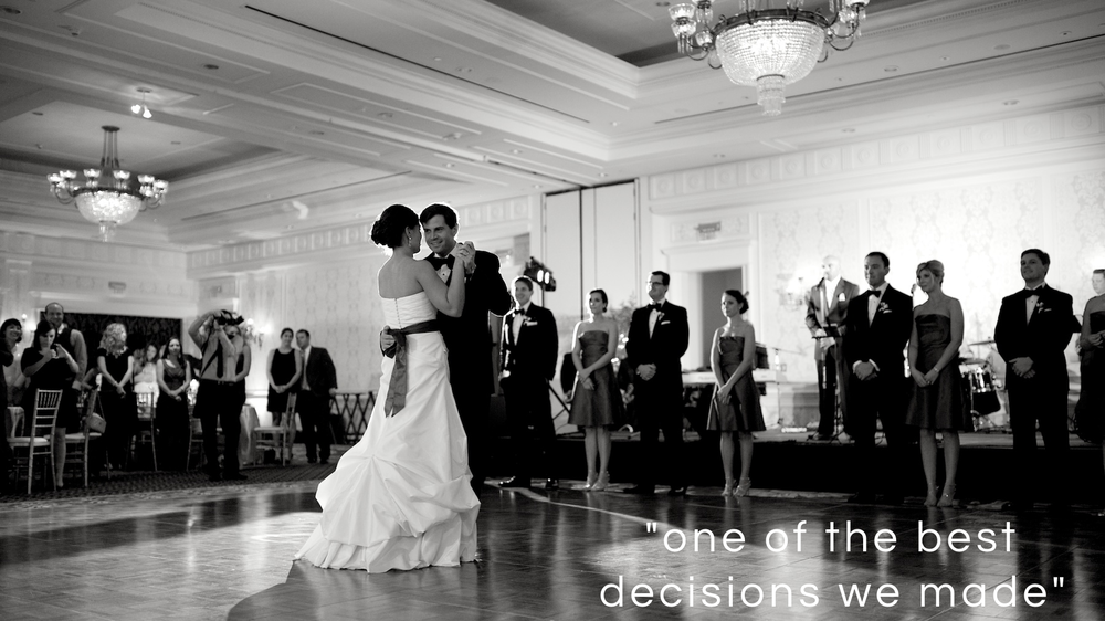 Andy and Courtney's first dance at their Durham wedding at Washington Duke Inn