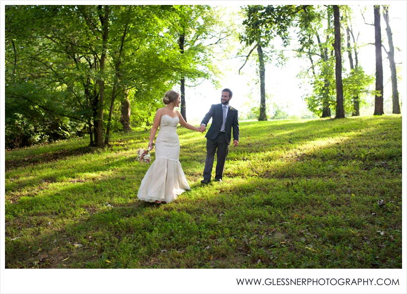 Jordan Holden and Joe Davis outdoor wedding in the Iris Garden at Ellington Agricultural Center in Nashville, TN. Photo by Nashville wedding photographers Glessner Photography.