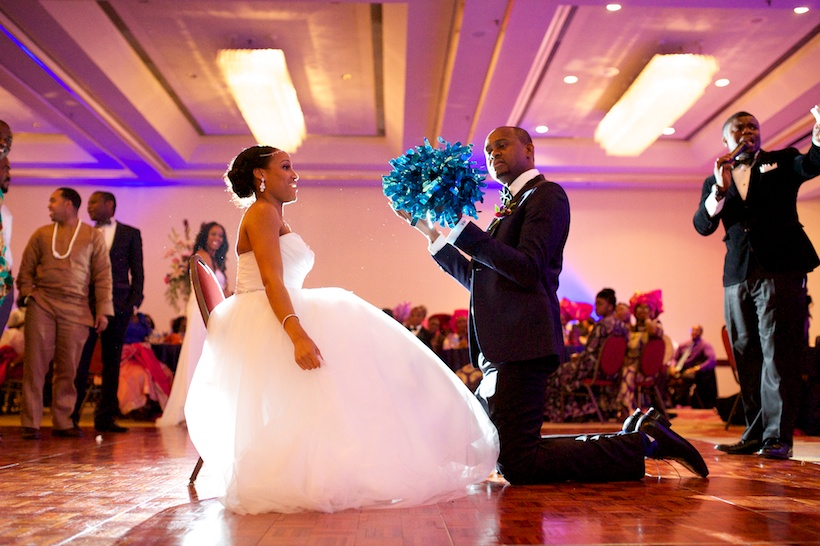 Chika Nwankwo and Joseph Kadiri's reception at Greensboro wedding venue the Downtown Marriott
