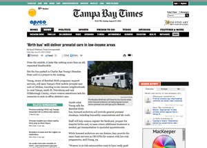 Tampa Bay Times 'Birth bus' will deliver prenatal care in low-income areas by Sarah Whitman