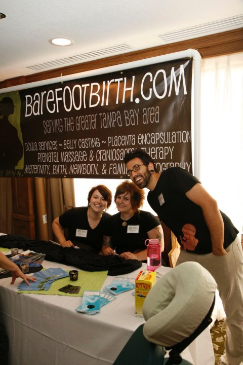 Just for fun- a photo of the  BFB family back in the early days at our very FIRST Tampa Bay Birth Network Natural Birth and Baby Expo!
