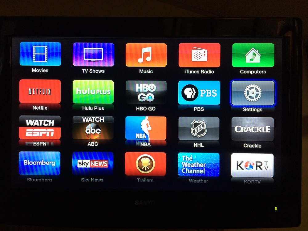 Go to Settings on Apple TV