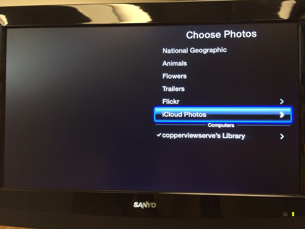 Choose your iCloud photos, you'll need to confirm your password.