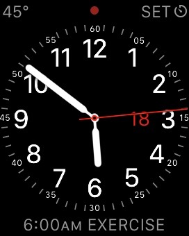 My current watch face and complications.