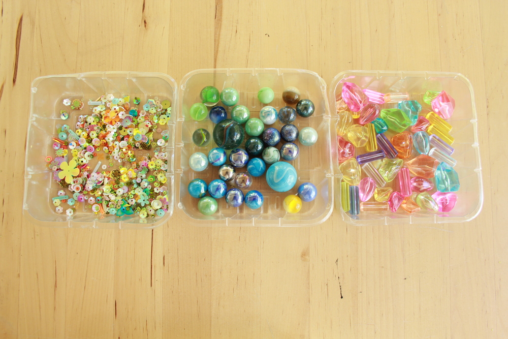 Fill these with invitations to play or offer up collage materials for your next project.