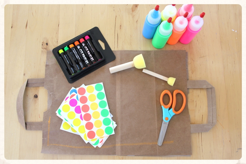 try neon on neutral backgrounds like kraft paper or cardboard for a striking contrast.