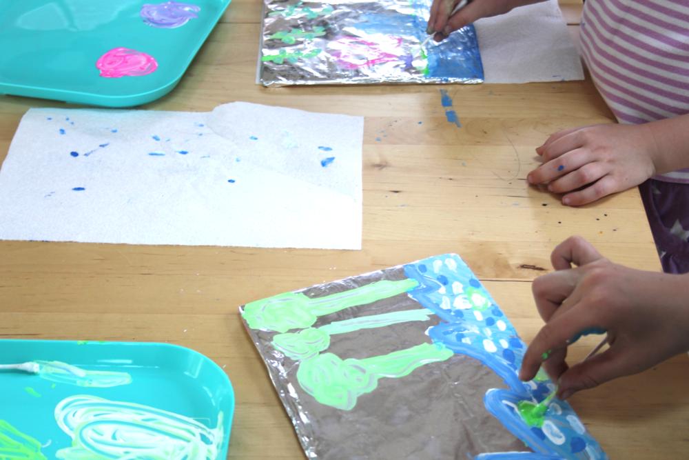 Using Monet's color palette.